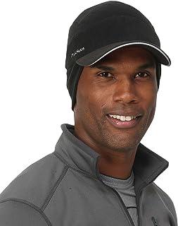 TrailHeads Men's Fleece Ball Cap with Drop Down Ear Warmer | The Trailblazer Adventure Hat - Black