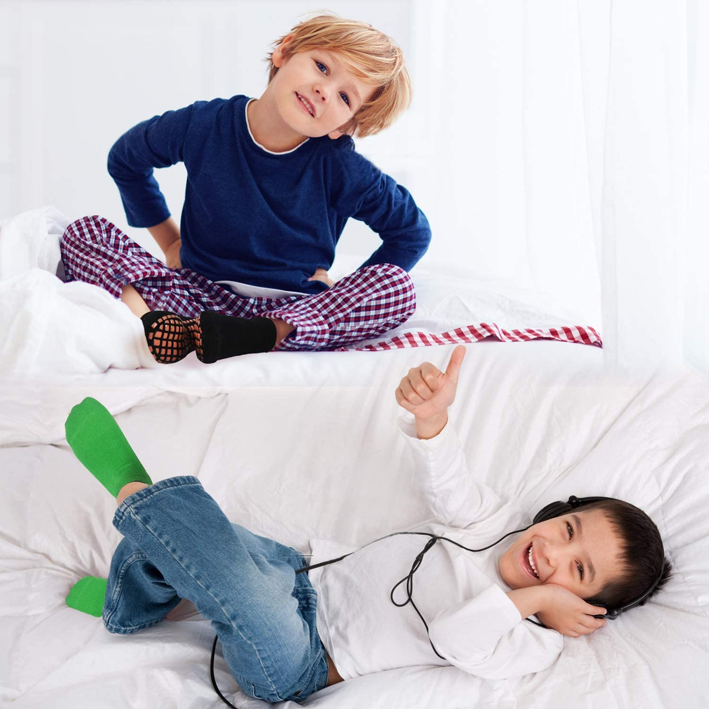 4 Paar Antirutschsocken Kinder 2-9 Jahre Kindersocken Jungen HYCLES Stoppersocken Kinder