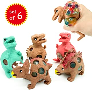 EUYZOU Anti Stress Squishy Multicolored Hand Exercise DNA Ball, Slime Prime Toys for Kids, Animal Stress Ball, ADHD Fidget Toys, The Shape of Dinosaur Set of 6