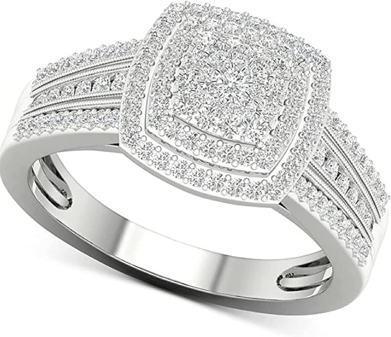 2.00 Ct Round Challenge the lowest price Cut Created Diamond Engagement Fo Ring Max 49% OFF Halo Double