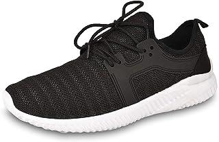 DRUNKEN Men's Sports Shoes Mesh Black Running Shoes, Football Shoes, Cricket Shoes,Basketball Shoes, Badminton Shoes, Walking Shoes, Tennis Shoes