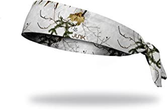 JUNK Brands Flex Tie Peaks Headband, Realtree Xtra Snow, Regular