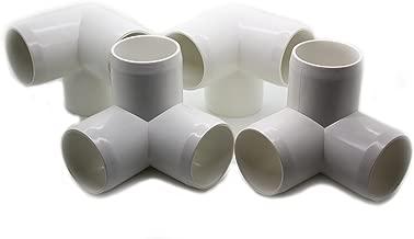 3 Way Tee PVC Fitting - Build Heavy Duty PVC Furniture - Grade SCH 40 PVC 1