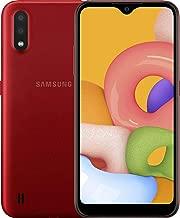 "Samsung Galaxy A01 16GB/2GB RAM (SM-A015M/DS) Dual SIM, 5.7"" Display, GSM Unlocked, International Version - Red"