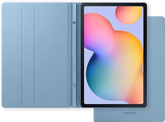 """Samsung Galaxy Tab S6 Lite - Tablet de 10.4"""" (LTE, 4G, Procesador Exynos 9611, 4 GB RAM, 64 GB Almacenamiento, Android 10), Color Azul + Book Cover, Azul"""