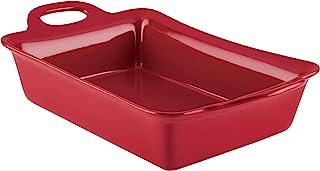 Rachael Ray 47856 Solid Glaze Ceramics Bakeware / Baking / Lasagna Pan, 9 Inch x 13 Inch, Red