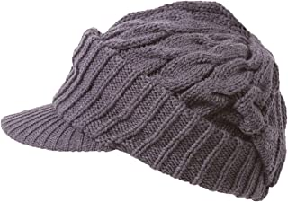 Gravity Knit Weave Beanie with Bill