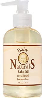 Baby Naturals Baby Oil 6 oz | Baby Massage Oil Gently Comforts, Smooths and Moisturizes Skin – Perfect Baby Bath Oil for Dry Skin - Creamy Baby Oil Alternative| Baby Naturals, the Natural Thing to Use