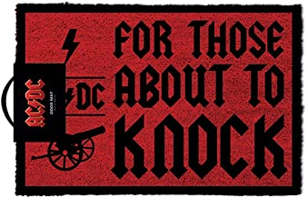 Official AC/DC for Those About to Knock Doormat Entrance Mat