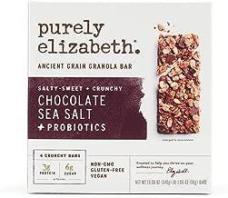 purely elizabeth Ancient Grain Granola Bar, Chocolate Sea Salt, with Probiotics, 4 Count