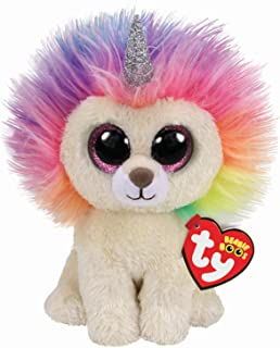 Claire's Ty Beanies Girl's Ty Beanie Boo Large Layla The Rainbow Lion Plush Toy
