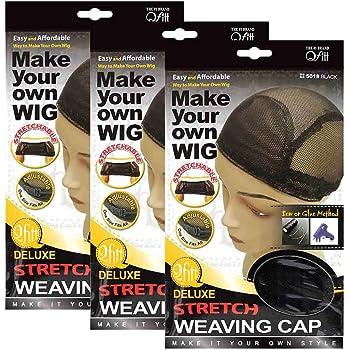 (3 Pack) Qfitt - Deluxe Stretch Weaving Cap #5018