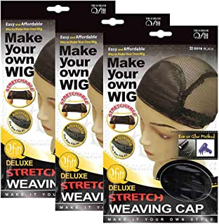 (3 Pack) Qfitt - Deluxe Stretch Weaving Cap #5018