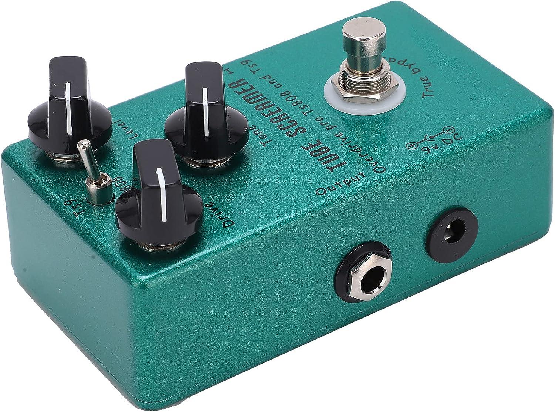 Pedal de efectos de guitarra Eujgoov Ajusta la unidad de tono y el nivel para el pedal sustentador de bajo de guitarra eléctrica(Tube Screamer)