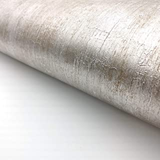RoyalWallSkins Silver Metallic Glitter Shinny Peel and Stick Wallpaper Embossed Contact Paper Self Adhesive 2 ft x 6.56 ft (Embossed Silver IMS0119)
