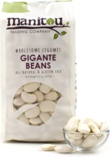 Gigante Beans, 2 / 15 Ounce Quad Seal Case by Manitou Trading Company