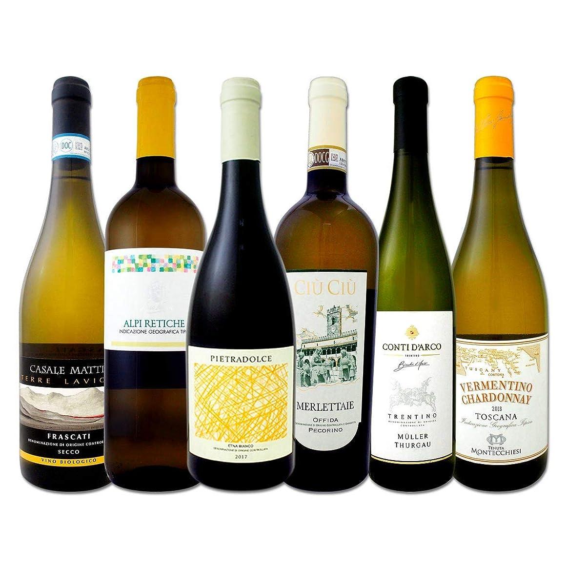 無駄な深くエクスタシー充実感たっぷりのイタリア白ワイン6本セット