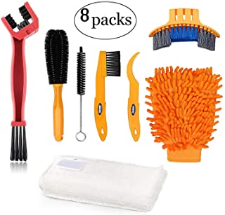Oumers Bike Clean Brush Kit, Motorcycle Bike Chain Cleaning Tools Make Chain/Crank/Tire/Sprocket Bike Corner Stain Dirt Cl...
