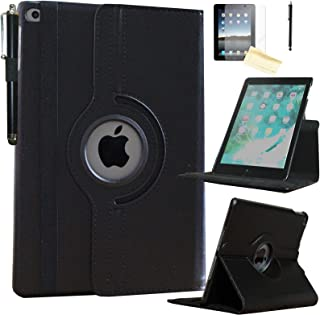 JYtrend Smart Case for iPad 2nd/ 3rd/4th Generation with Pencil Holder, Rotating Stand Magnetic Auto Wake Up/Sleep Cover f...