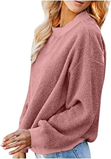 iHHAPY Ladies Sweatshirt Long Sleeve Hoodie Warm Tops Thicken Pullover 2019 Autumn Winter Sweatshirt Faux Teddy Fleece