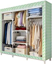 XDDDX Multi-Function Wardrobe Folding Storage Cabinet Assembly Easy Install Reinforcement Wardrobe Closet Bedroom Furnitur...