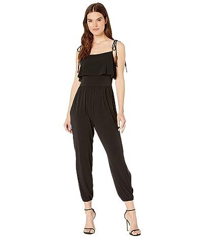 BCBGeneration Tie Strap Knit Ankle Jumpsuit YDM9206203 (Black) Women