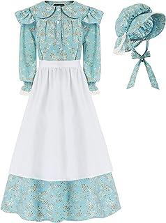 Girls Pioneer Colonial Dress Prairie Costume Dress