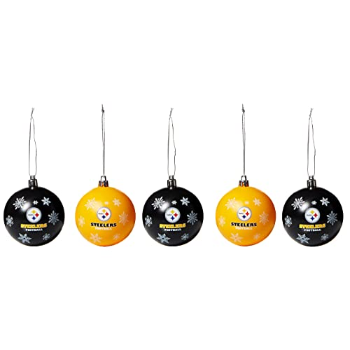 FOCO NFL Unisex 2016 5 Pack Shatterproof Ball Ornament Set 4644213be
