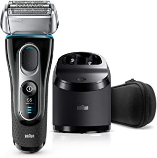 Braun Series 5 5190cc Men's Electric Foil Shaver with Clean & Charge System, Wet and Dry, Pop Up Precision Trimmer, Rechar...