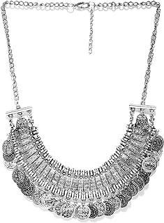 Crunchy Fashion Bollywood Traditional Indian/Bohemian Style Afgani Oxidised Silver Boho Gypsy Tribal Handmade Jewelry Neck...