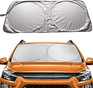 Car Windshield Sun Shade, Proxima Direct Sun Protector for Car Safe Windshield Sunshade Maximum UV Sun Protection-Foldable...