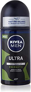 NIVEA MEN Ultra Energetic dezodorant w kulce (50 ml), antyperspirant chroni pach przed wilgocią, dezodorant z ochroną 48h ...