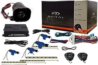 Avital 3100L 1-Way Car Security System Alarm Keyless Entry w/Door Lock Actuator