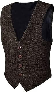 boys brown tweed vest
