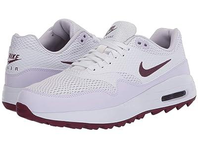 Nike Golf Air Max 1 G (White/Villain Red/Barely Grape) Women