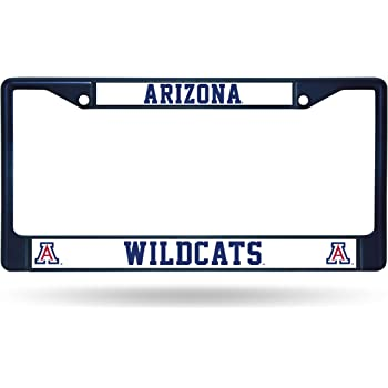 NCAA Rico Industries  Laser Cut Inlaid Standard Chrome License Plate Frame Arizona Wildcats