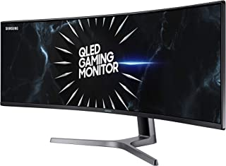 """Samsung CRG9 Series 49"""" Double QHD HDR 120Hz 4ms FreeSync Curved QLED Gaming Monitor (LC49RG90SSNXZA)"""