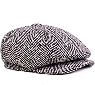 ZLSLZ Mens Striped 8 Panel Ivy Newsboy Cabbie Gatsby Beret Painter Hats Caps  For Men 95d4219ec8dd