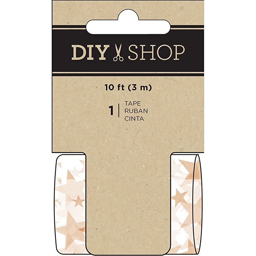 American Crafts 349201 Tape, Gold Star