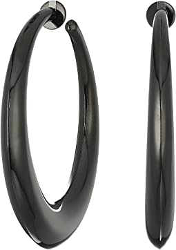 Hemetite Hoop Earrings
