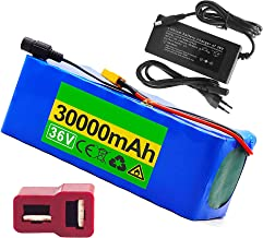 36V 30Ah Lithiumbatterijpak voor Elektrische Mountainbike met BMS-Bescherming en Oplader Geschikt voor Scootmobiel E-Bike ...