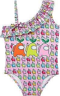 Girls Swimsuit One Piece Rainbow Kids Bathing Suits Toddlers Swimwear Size 140
