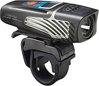 NiteRider Lumina 1100 OLED Boost USB Rechargeable MTB Road Commuter LED Bike Light with Display Screen Powerful Lumens Water Resistant Bicycle Headlight, LED Front Light Easy to Install