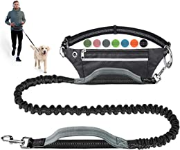 LANNEY Hands Free Dog Leash for Running Walking Jogging Training Hiking, Retractable Bungee Dog Running Waist Leash for Me...