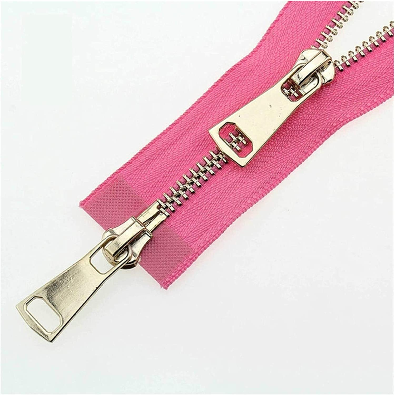 Decorative Zipper Double Sliders Auto Lock Metal Zipper Zipper (