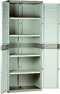Plastiken M282966 - Armario de Resina con 4 estantes plastek 176 x 70 x 44 cm