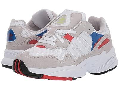 adidas Originals Kids Yung-96 J (Big Kid) (White/Crystal White/Active Red) Kids Shoes