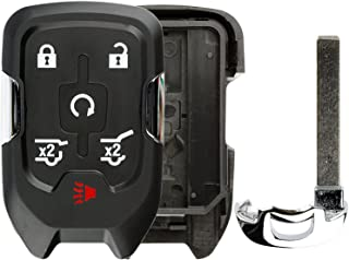 KeylessOption Keyless Entry Remote Key Fob Case Shell Button Pad Outer Cover Housing for Chevy GMC HYQ1AA
