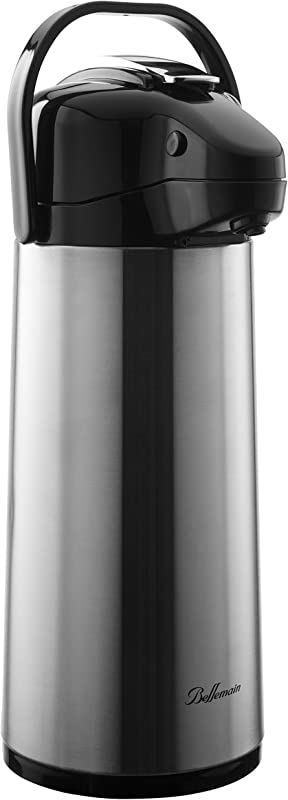 Bellemain 2 2 Liter Airpot Coffee Dispenser With Pump Stainless Steel Vacuum Insulated