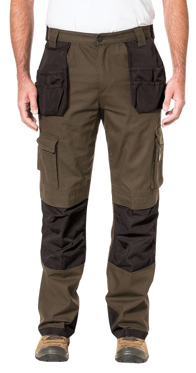 Caterpillar Mens Cargo Pants with Holster Pants, Dark Earth, 36 x 42